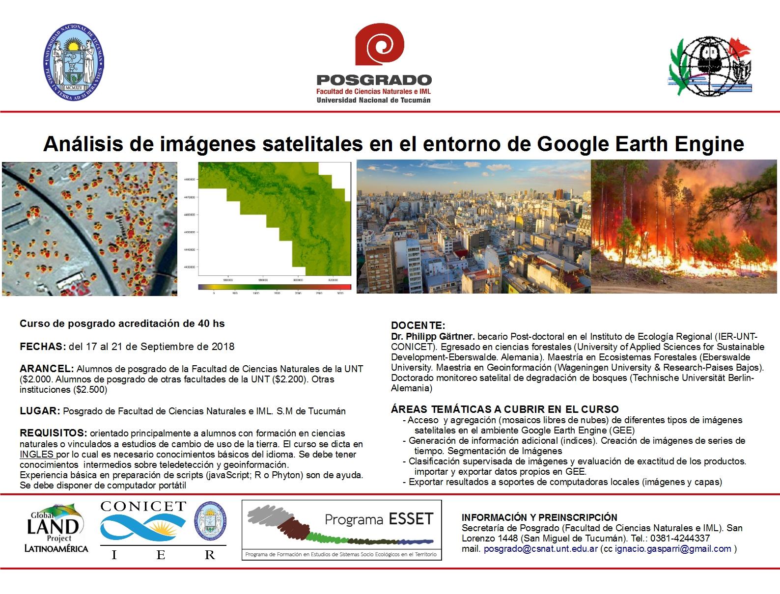 Curso de Análisis de imágenes satelitales